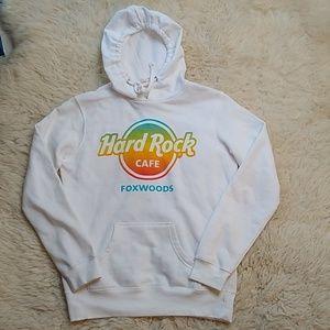 Hard Rock Cafe Foxwoods Hoodie Sweatshirt Small